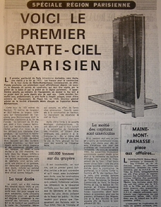 La tour Montparnasse 14 avril 1967 © RADIO FRANCE