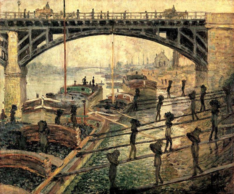 Les déchargeurs de charbon. Claude Monet
