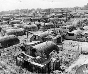 Le bidonville de Noisy-le-Grand en 1954.