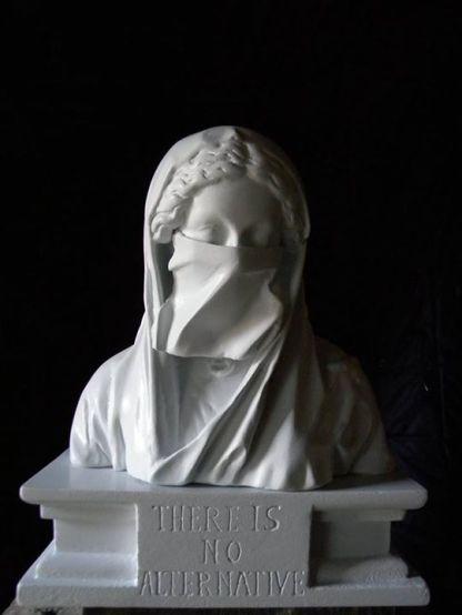 Luc Billières - Permanence de l'oppression, la pulsion de mort Plâtre , 43 cm - PU