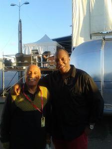 """Mulatu Astatke en compagnie d'Oxmo Puccino au festival de musique du monde """"Les Escales"""" à Saint-Nazaire en 2013"""