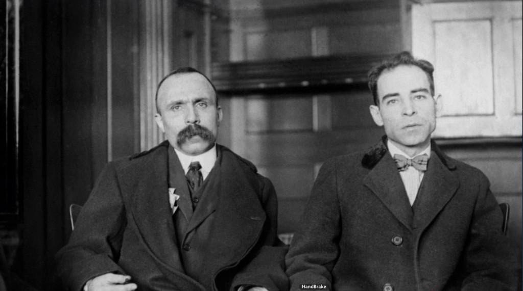 Les véritables Sacco (à droite) et Vanzetti (à gauche)
