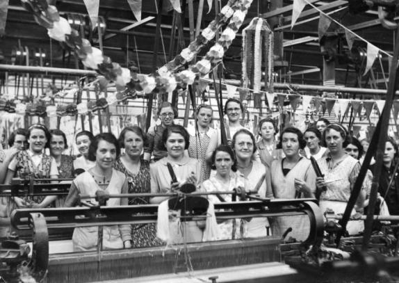 Ouvrières à l'usine de coton de Wigan, 2e moitié du 20e siècle