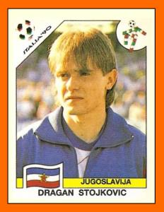 Dragan Pixie Stojkovic Panini Yougoslavie 1990