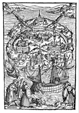 Utopia, Gravure de Ambrosius Holbein