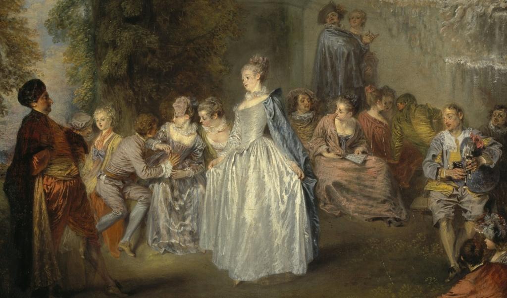 Jean-Antoine Watteau - Fêtes Vénitiennes, 1715
