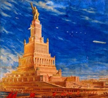 Palais des Soviets imaginé par Boris Iofan, Vladimir Schuko et Vladimir Gelfreich