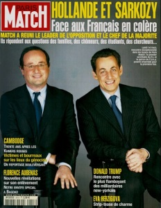 """François Hollande et Nicolas Sarkozy en une de Paris Match défendaient le """"oui"""" au traité constitutionnel européen de 2005, qui sera rejeté par les Français"""