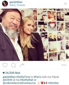 ai-weiwei-selfie-paris-hilton