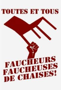 Affiche d'Attac France, symbolisant les dernières actions (non violentes) de l'association