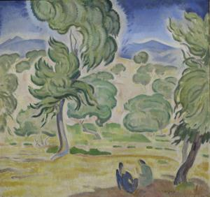 Konstantinos-Parthenis-Pine-Trees-on-Kerkyra